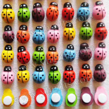 500PCS/LOT,7 Color ladybug stickers,Fridge sticker,Wall stickers,Spring ornament,Easter crafts.13x9mm,ping.Wholesale