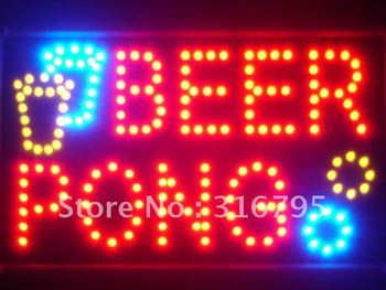 Led015-r Beer Pong Bar Birahane LED Neon İş Işık Toptan Dropshipping Sign