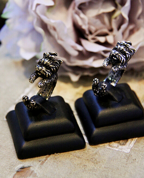 Wholesale price new product retro adjustable animal ring selling ring Yorkshire Terrier ring