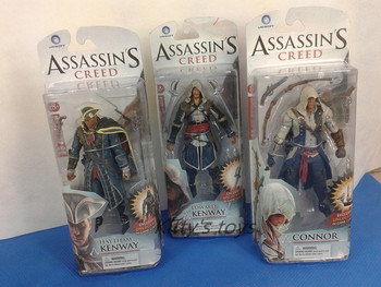"Assassins Creed 4 Black Flag Connor Heysem Kenway Edward Kenway PVC Action Figure Oyuncaklar 6 ""14 CM Ücretsiz kargo KB0286"