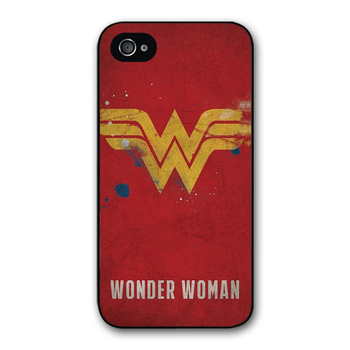 Minason Wonder Woman logo Kapak kılıf iphone 4 4 s 5 5 s 5c 6 6 s 7 8 artı samsung galaxy S5 S6 Not 2 3 4 K1166