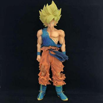34 cm Dragon Ball Dragonball MSP DragonBall GOKU Süper Saiya Renkli ver. PVC Action Figure Koleksiyon Model Oyuncak