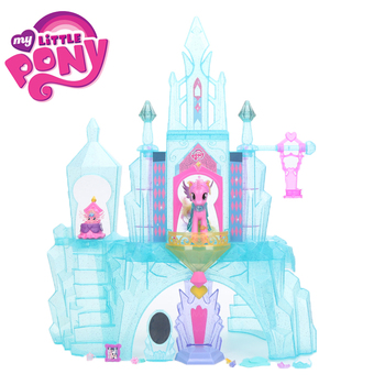 Kız Için My Little Pony Oyuncaklar Kristal Castle House Dostluk Magic Prenses Ahengi Bebek Flurry Kalp colletion Model Bebekler